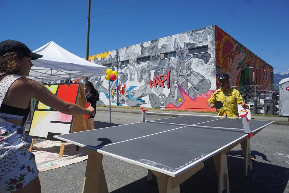 Some tough competition at the Strathcona Mural Fest
