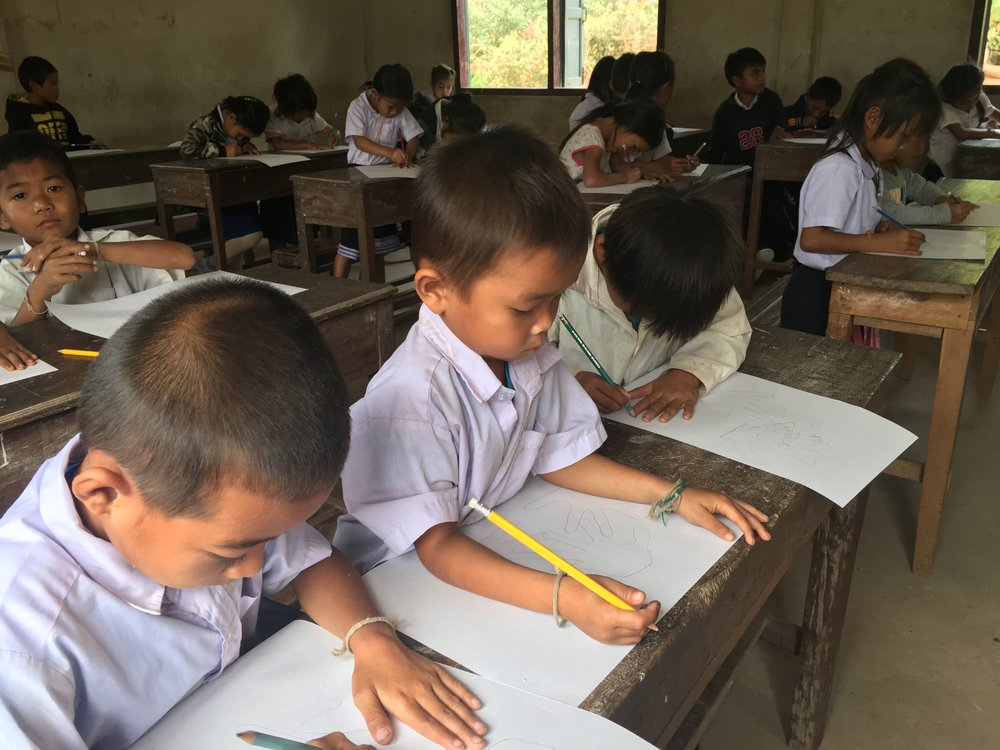 Students at the school in Nongkalong Village