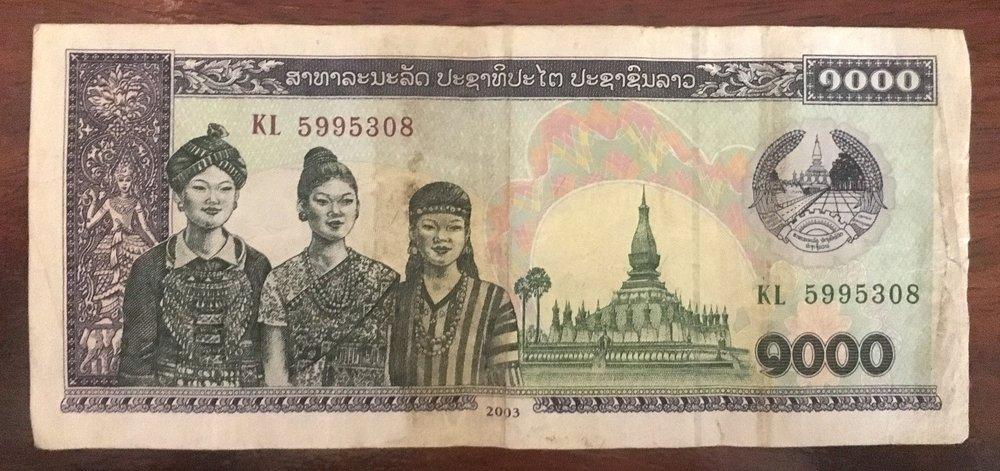 Reverse of 1,000 Lao Kip Note |© Regina Beach