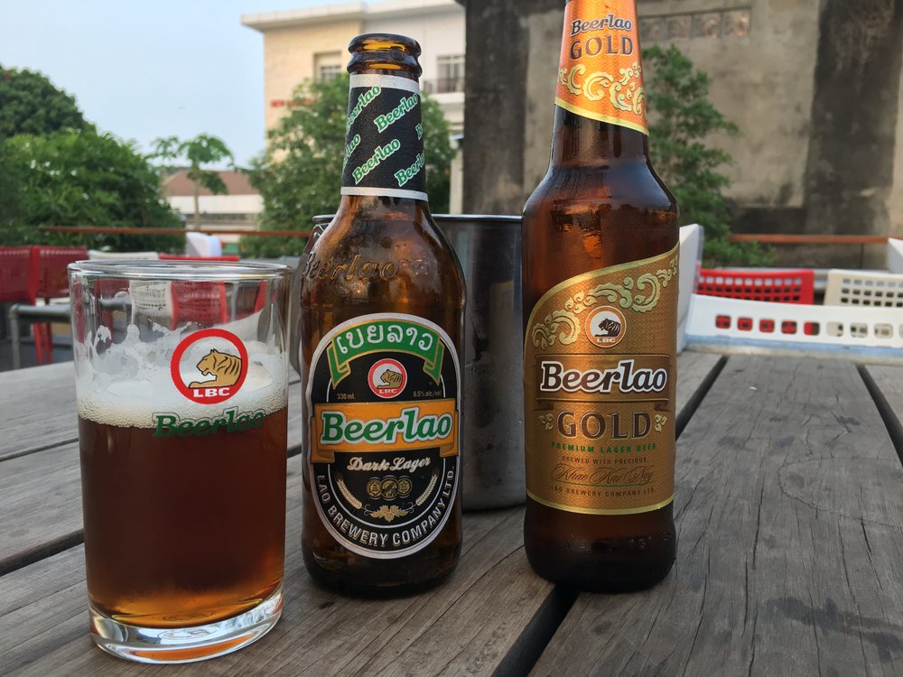 Beer Lao Dark and Beer Lao Gold