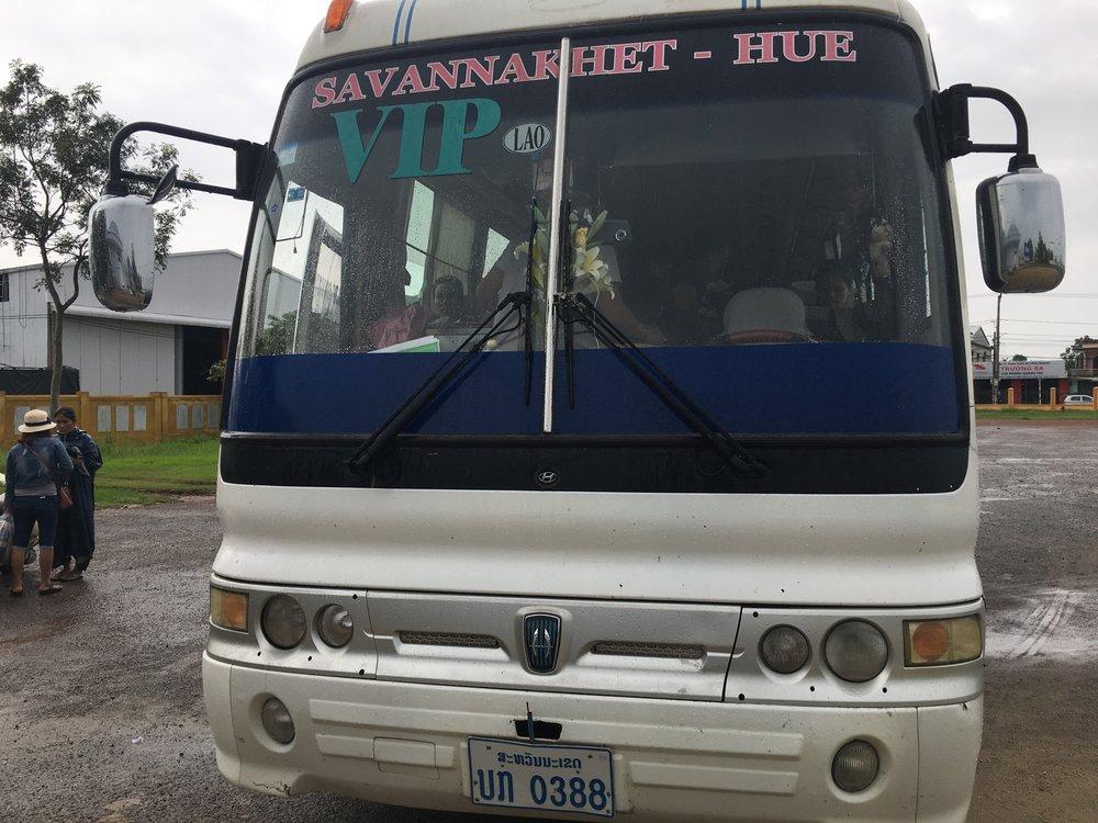 The bus to Hue, Vietnam