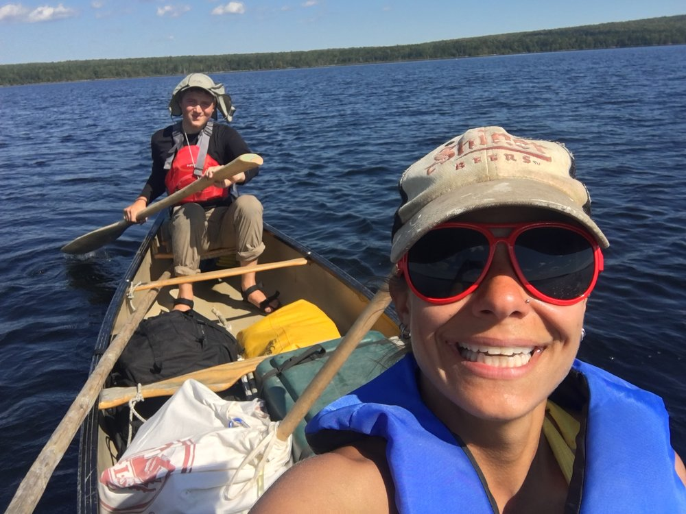 Ernesto and I were paddle partners on the way back on Lake Scopan.