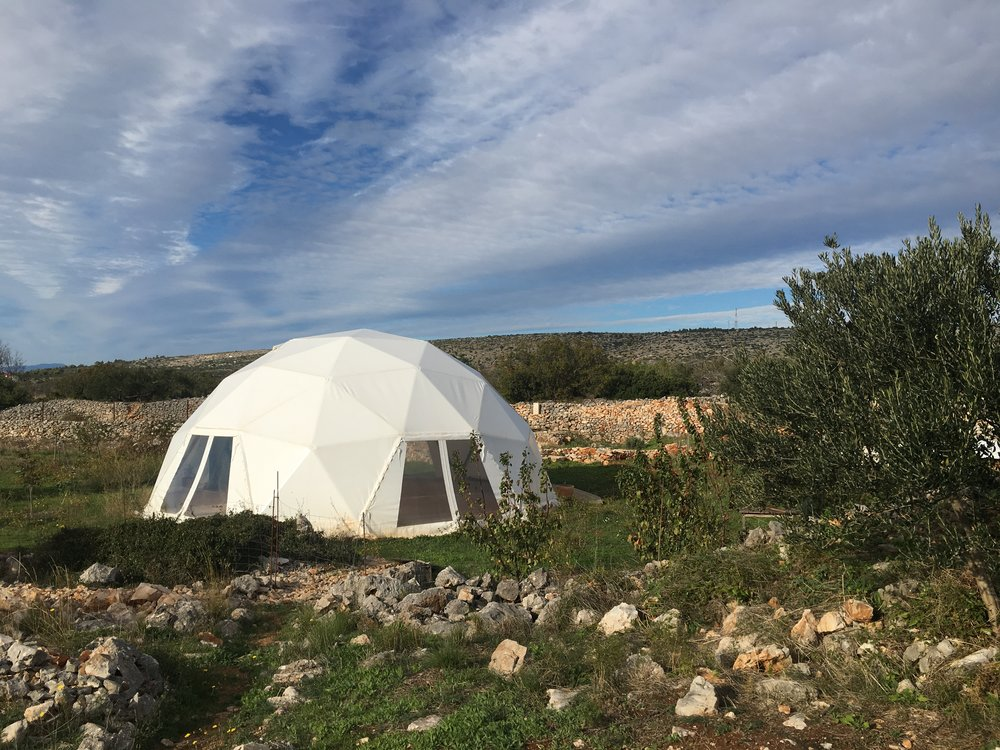 Gea Viva is home to an awesome geodesic dome and yoga retreats.