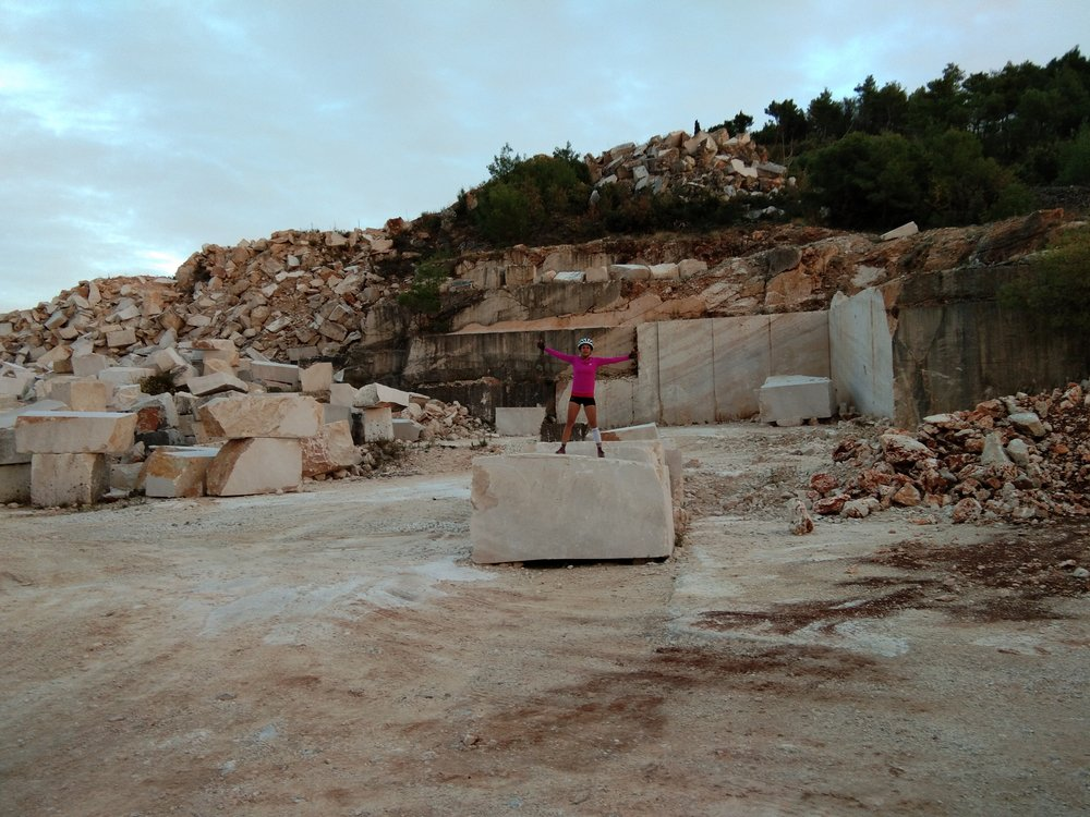 Check out the size of the rocks they are cutting out of this quarry!