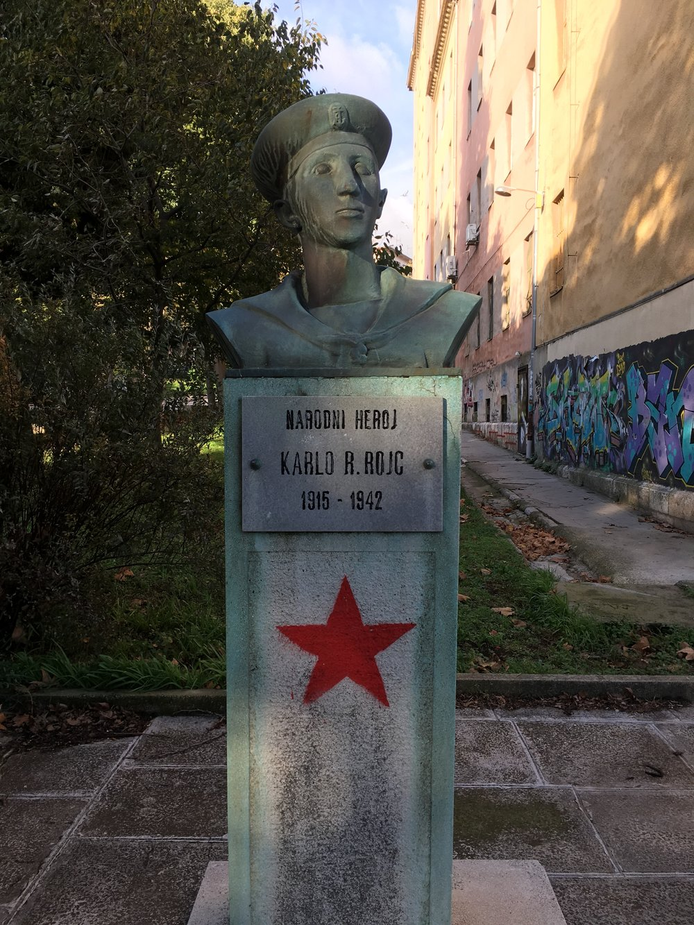 The building was named after WWII hero Karl Rojc.