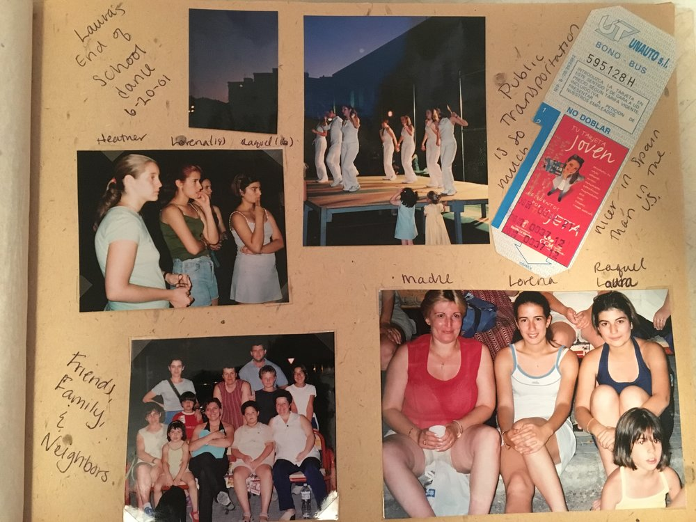 Scrapbook pages from Spain.