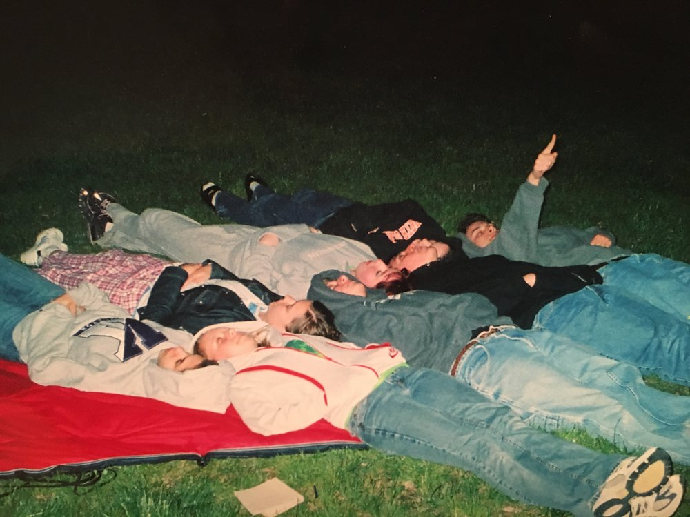 My friends and I stargazed after Prom.