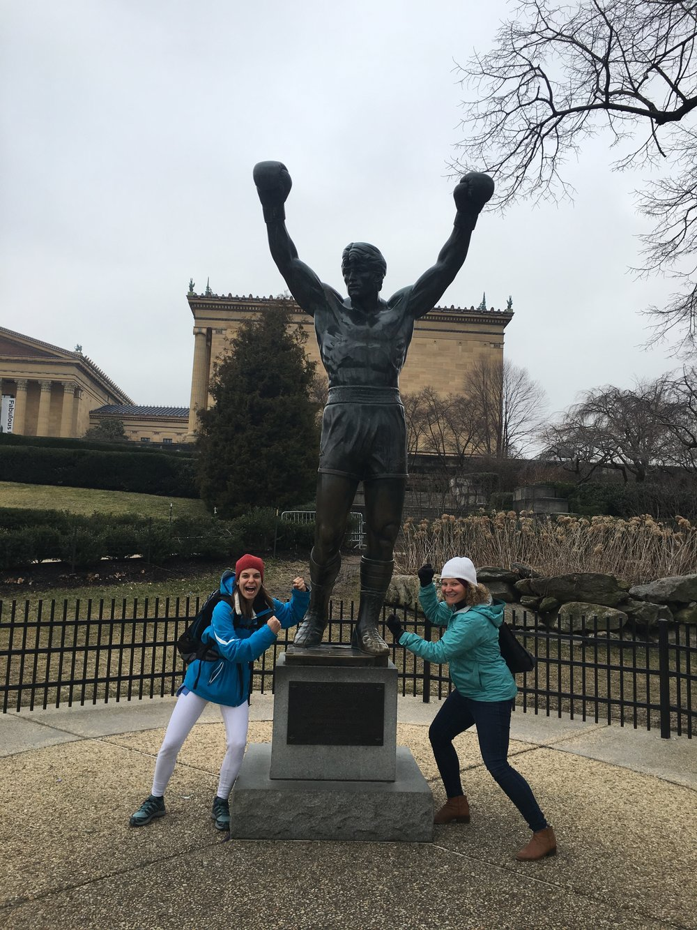 Stephanie and I checked out the Rocky statue at the Philadelphia Museum of Art.