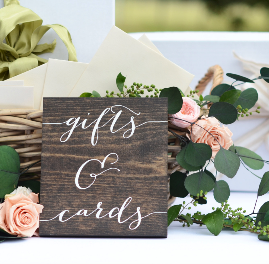 Gifts and Cards Wooden Sign Rustic Wedding