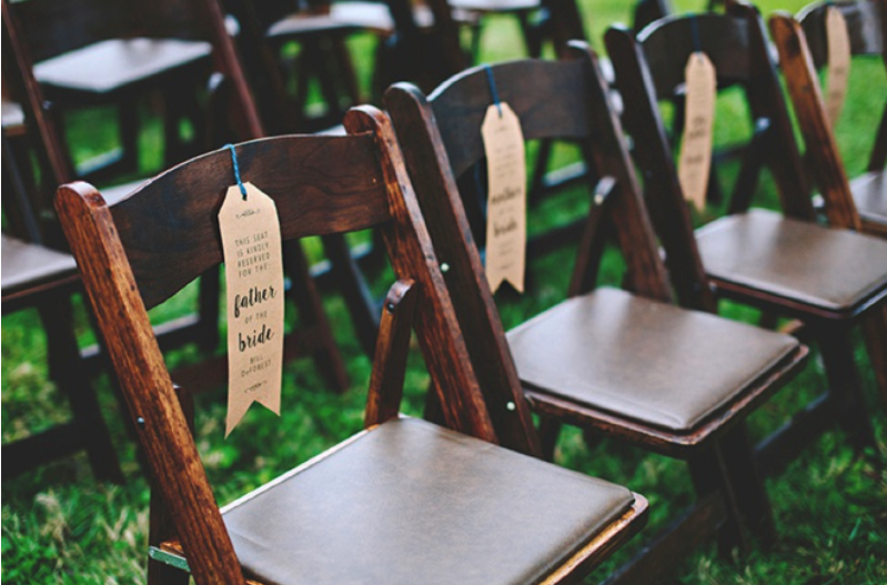 reserved seats for wedding