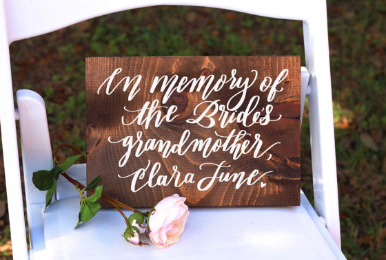 in loving memory wooden sign