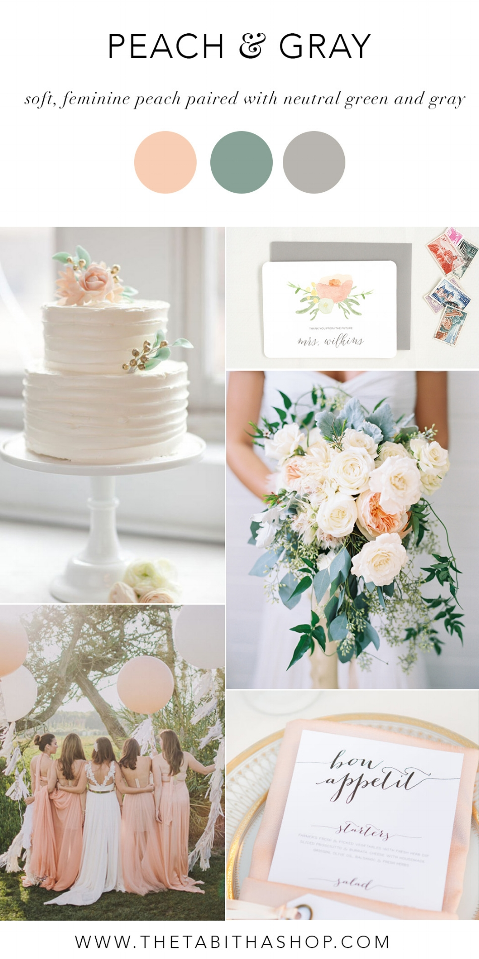 Clockwise, starting top left: Photo via  Wistful Weddings  |  The Tabitha Shop thank you cards  | Photo by   Austin Gros via  Ruffled  | Photo by Anna Jockish via  Style Me Pretty  | Photo by Sean Flanigan via  Green Wedding Shoes