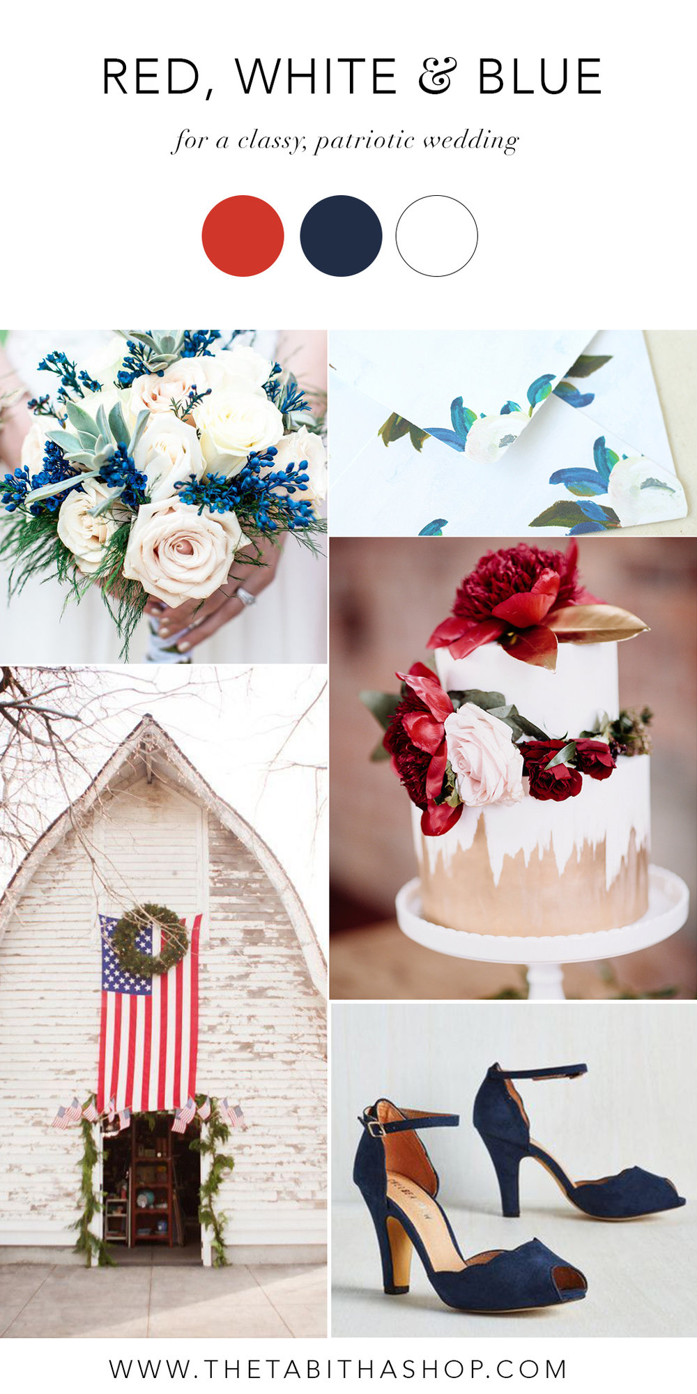 Ideas for a Red, White and Blue Wedding