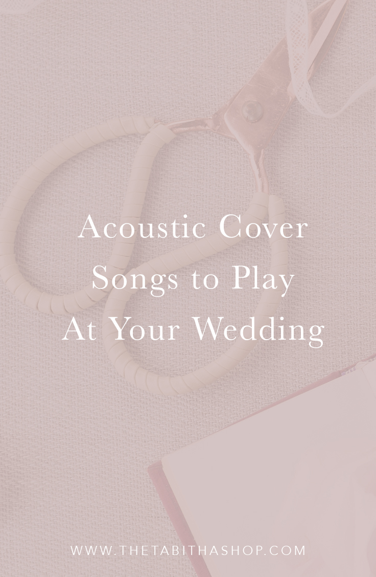 acoustic wedding songs