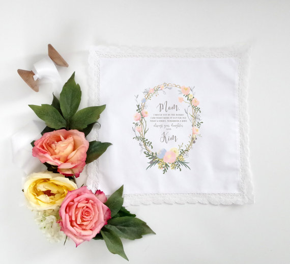 Mother of the Bride Handkerchief by The Polka Dotted Bee