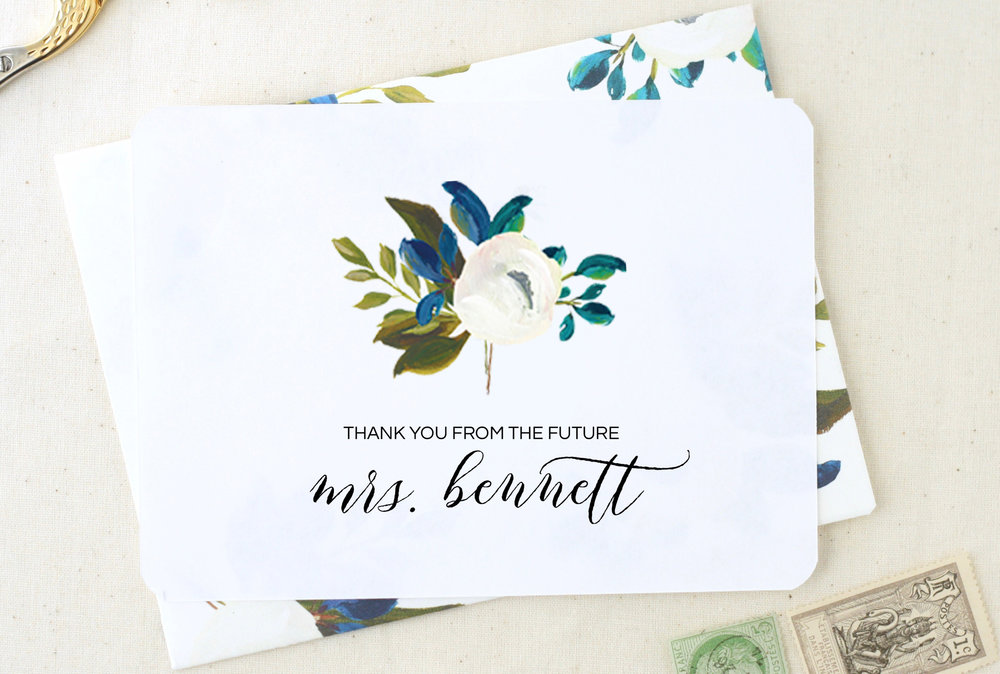 Future Mrs Thank You Card    by    The Tabitha Shop