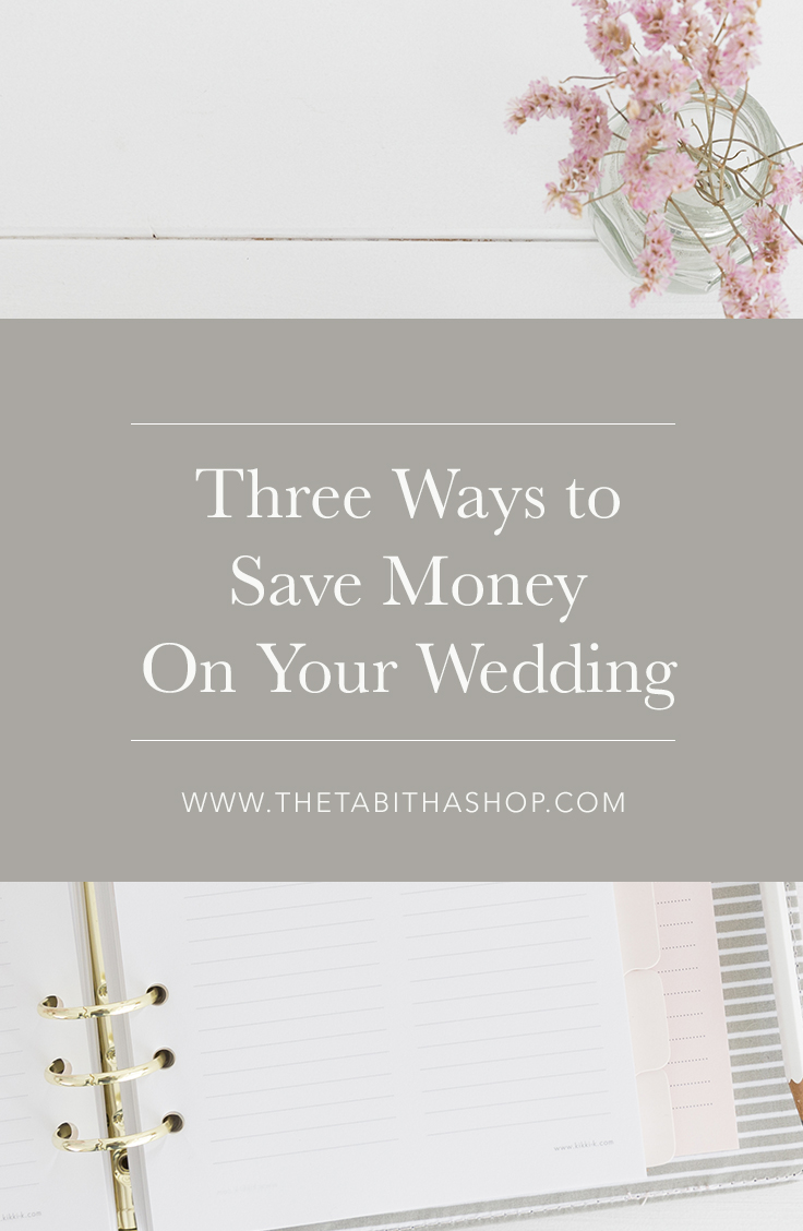 ways to save money on wedding
