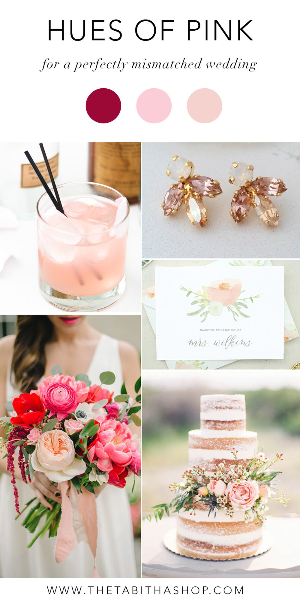 Clockwise, starting top left: via  Design Sponge  // Earrings by  Eldor Tina Jewelry  //  Future Mrs. Card  by  The Tabitha Shop  // Photo by Mallory Renee Photography via  Wedding Sparrow  // Photo by  Sarah McKenzie Photography  and florals by  Blush & Vine  via  Brides