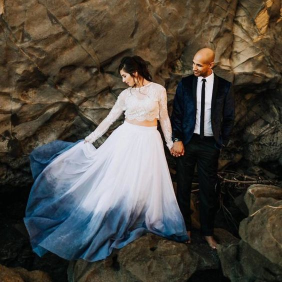 Photo by    Alexandria Monette   , Dress by    Sweet Caroline    via    Green Wedding Shoes    via    Ruffled