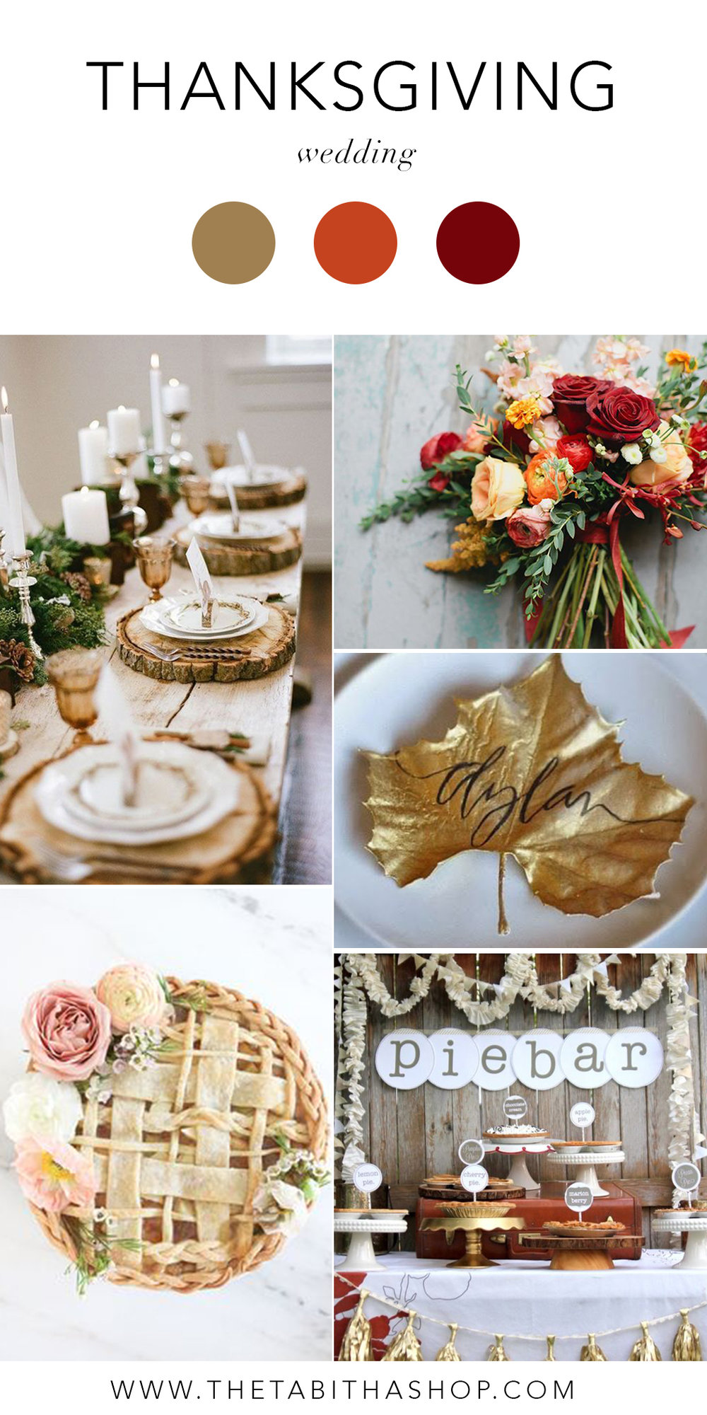 Clockwise, starting top left: Photo by  Jenny Collier  via  Brit+Co  // Photo via  Hi Miss Puff  // Photo via  Elements of Style  // Photo via  B. Lovely Events  // Photo by  Monika Hibbs  via  Mon Cheri Bridals