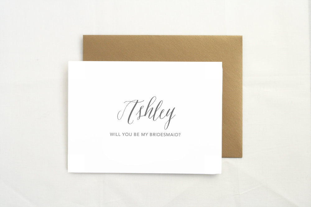 Bridesmaid card    by    The Tabitha Shop