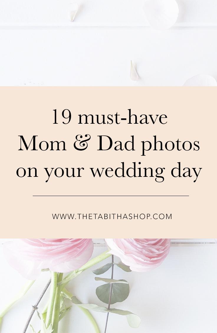 mom dad wedding day photos