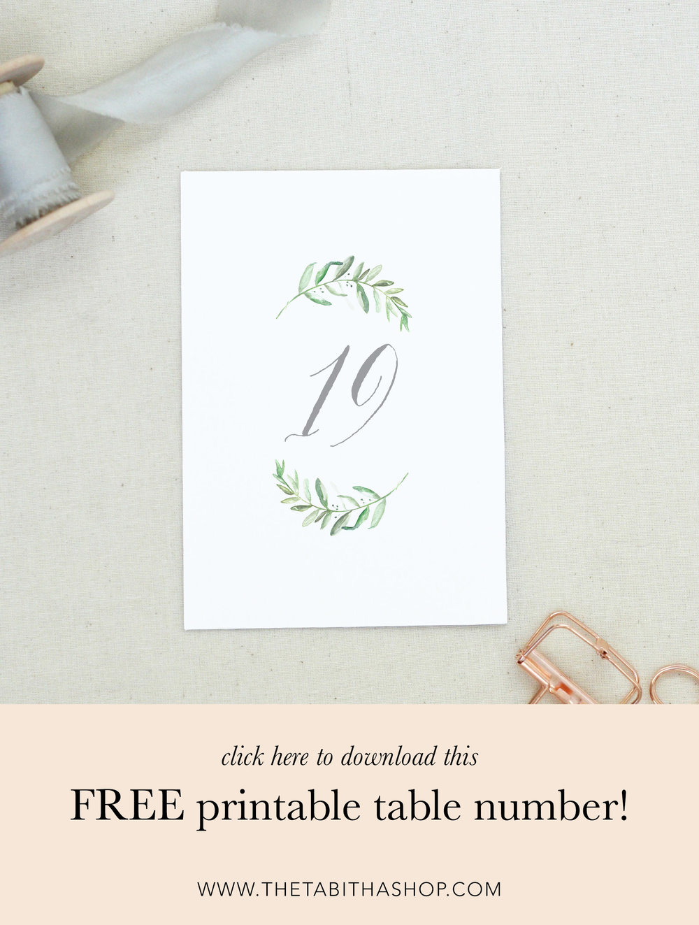 printable table numbers