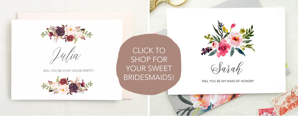 bridesmaid card proposal
