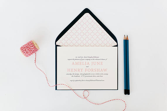 Invitation by  Lola Louie Paperie    Simple and elegant. Love this  invitation for a fun night out with your people.