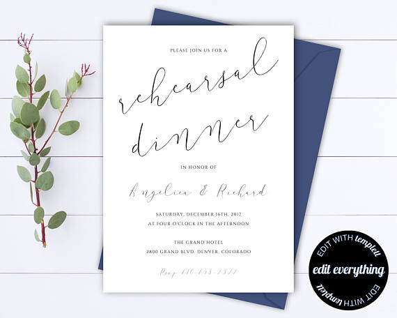 Invitation by  Minted Memories    This  invitation made the list because of the font combinations. Pair this with a fun envelope and you have a gorgeous way to invite your guests!