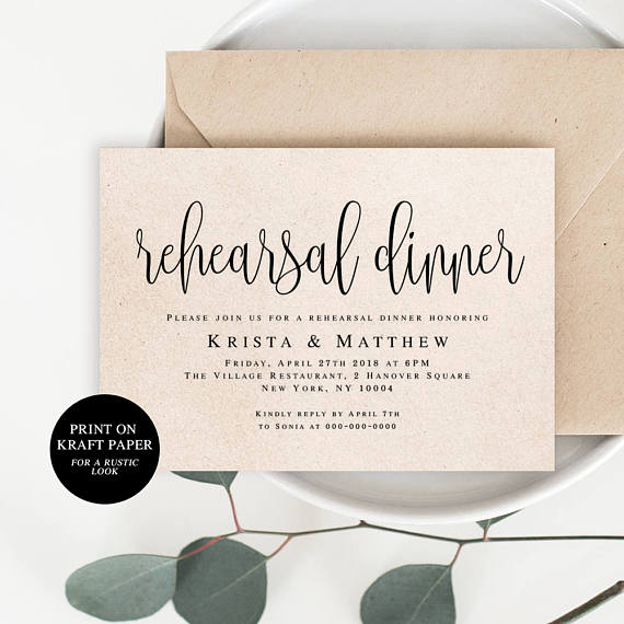 Invitation by  Viola Mirabilis Design     Keep it casual and gorgeous with this kraft  invitation . Because it's a printable, you can also print it on any color of paper to give it a nice, pretty pop.