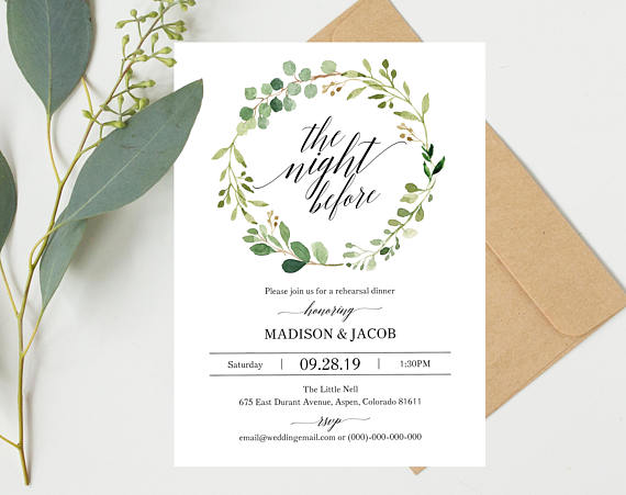 Invitation by  Marry Me Paper Boutique    Neutral, greenery weddings are some of my favorite ones! This  invitation  is a perfect compliment to yours if you're planning one.