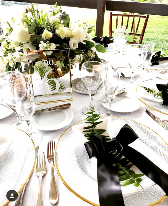 gold table number ideas