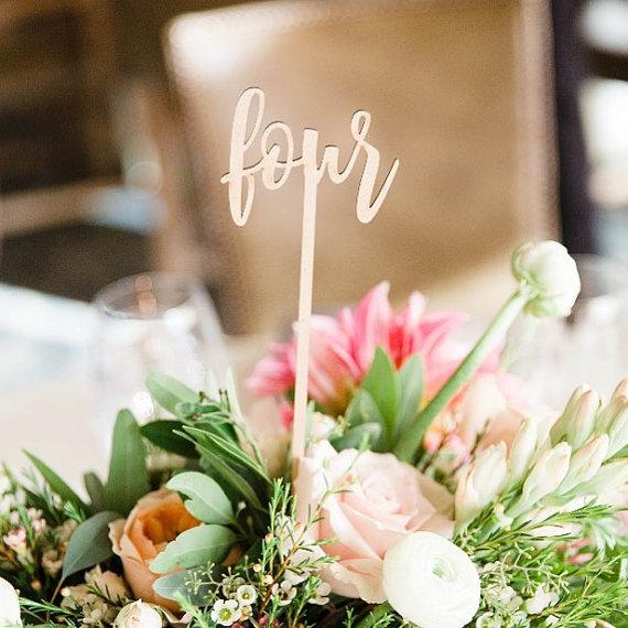 laser cut wedding table numbers