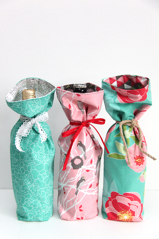 how to wrap a wine bottle