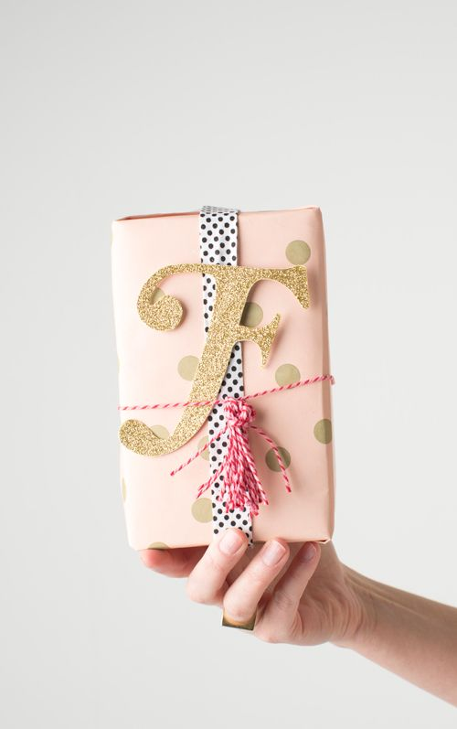 monogram gift wrapping