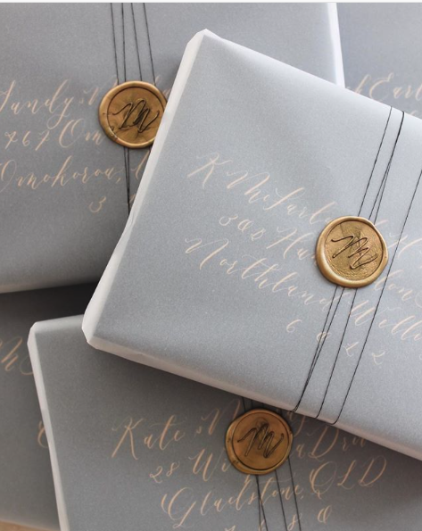 calligraphy gift wrapping