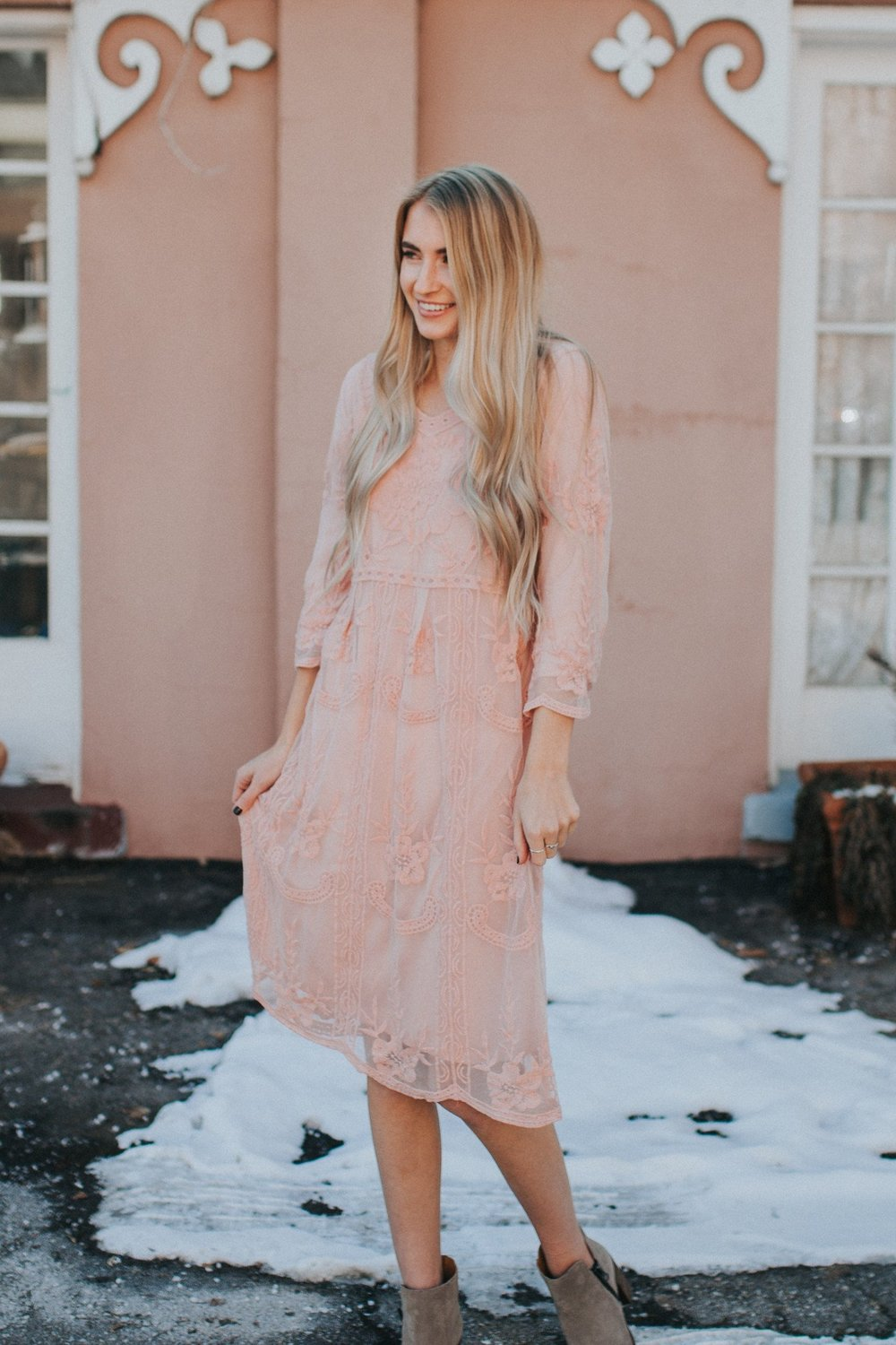 lace rehearsal dress
