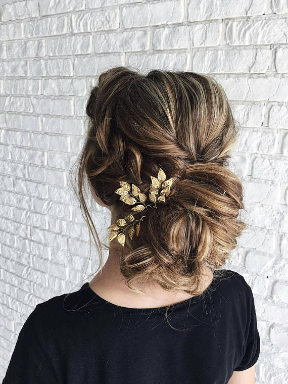 gold floral hair accessory