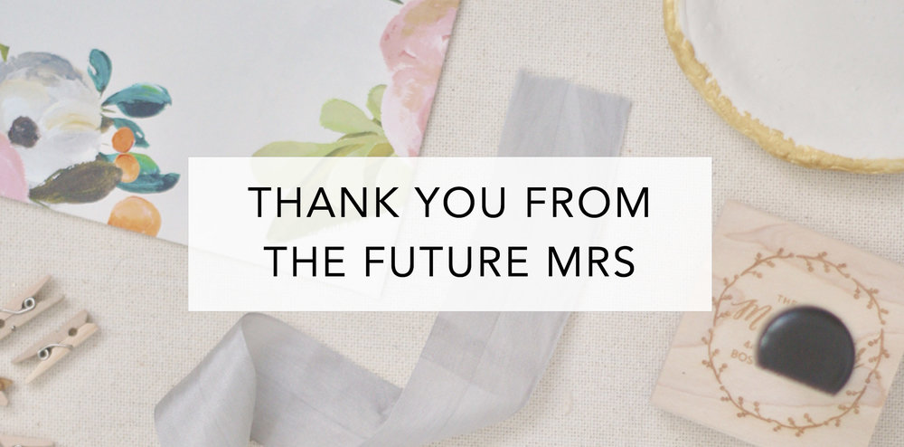 future mrs thank you cards wedding