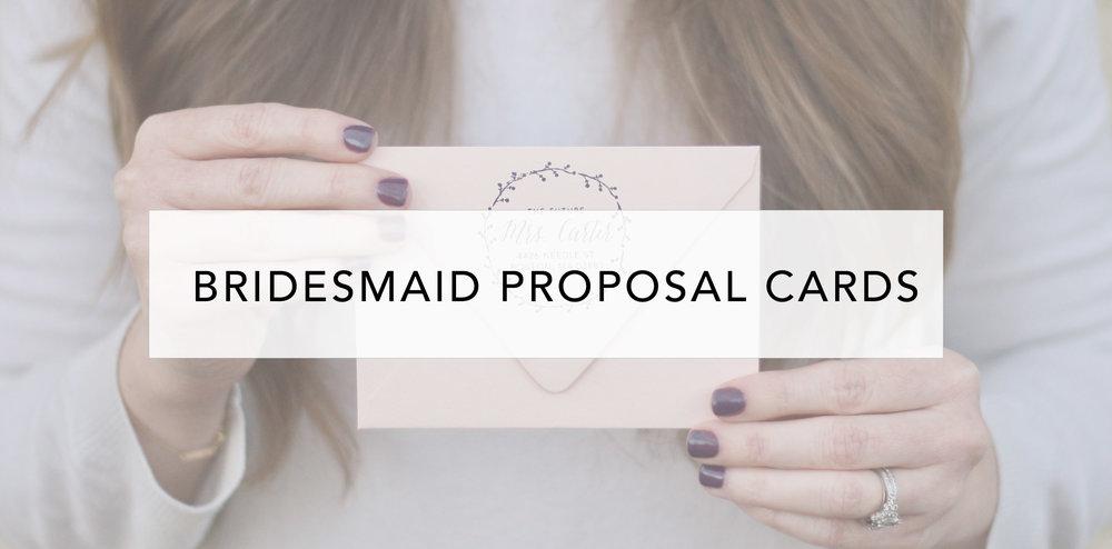 bridesmaid proposal cards
