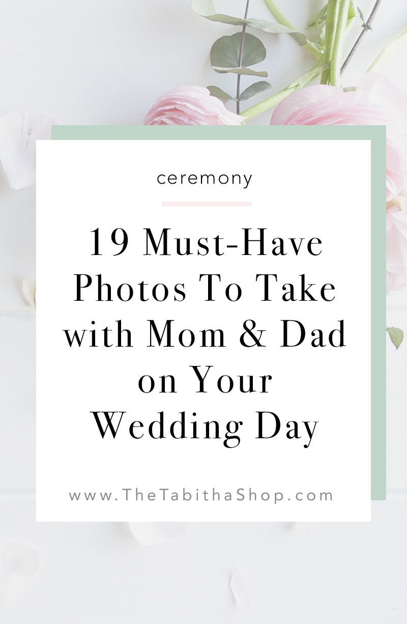 mom and dad wedding photo ideas