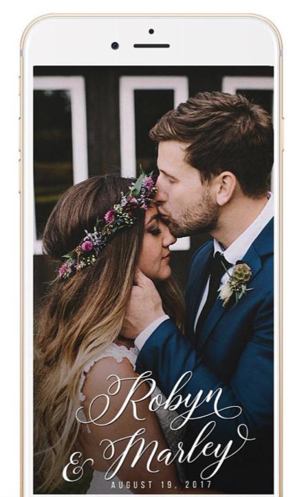 pretty wedding snapchat filter