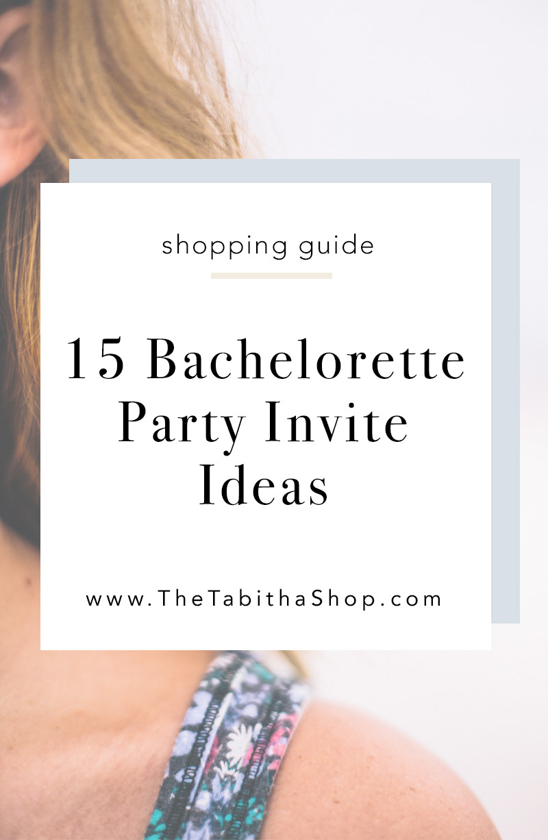 bachelorette party invitation ideas