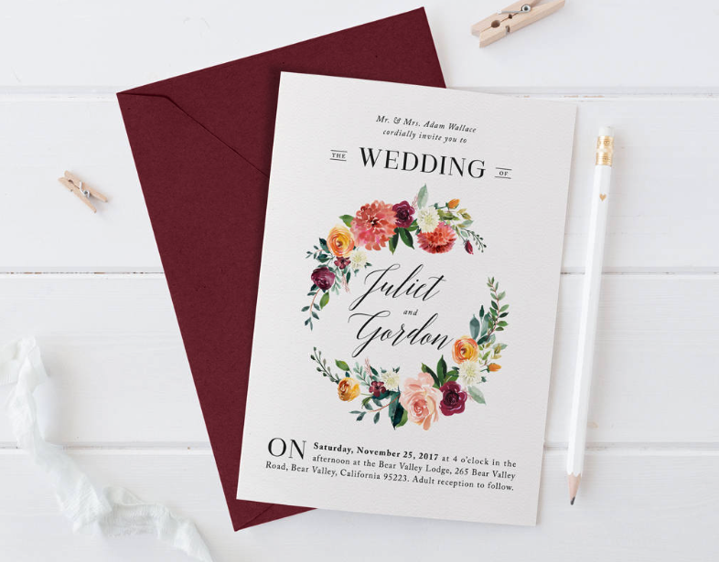 Marsala Blush Wedding Invites With Pricing Pros Cons The