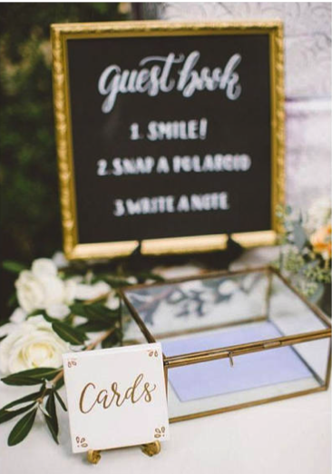 clear wedding box