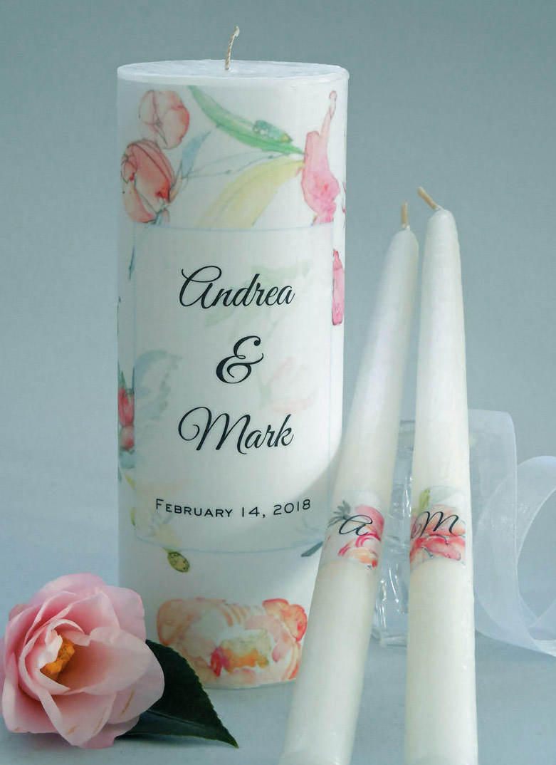 FLORAL UNITY CANDLE