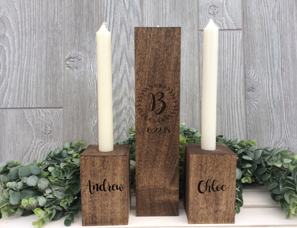 RUSTIC WOODEN UNITY CANDLE