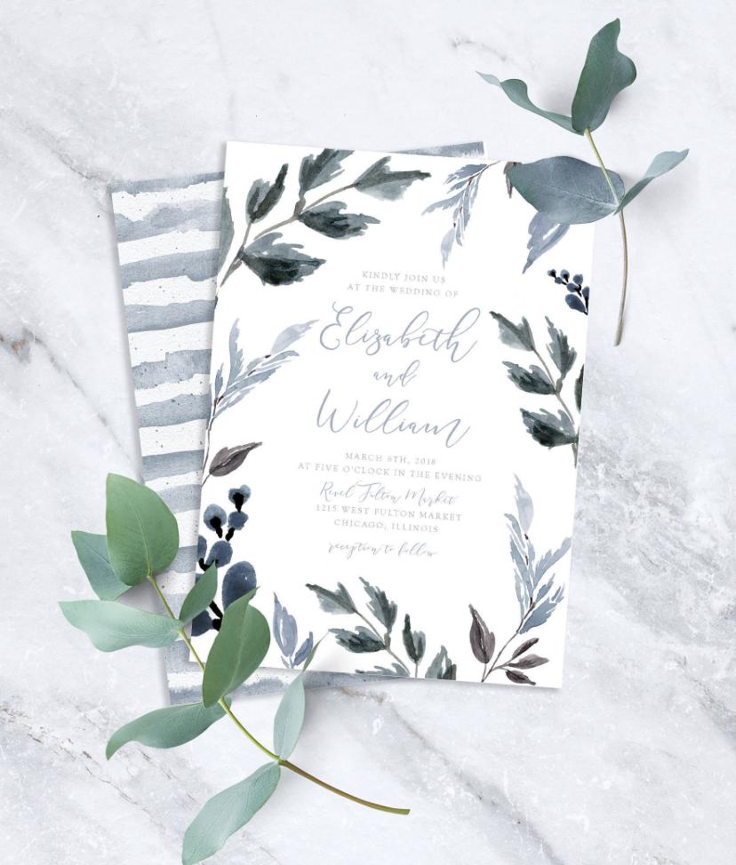dusty blue wedding ideas
