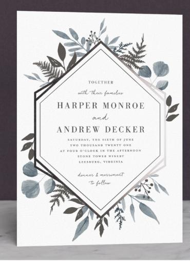 powder blue wedding invitations